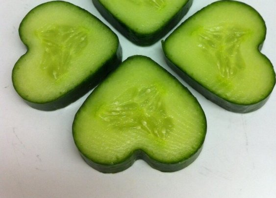 Heathy hearts this Valentines Day: Cucumber Hearts
