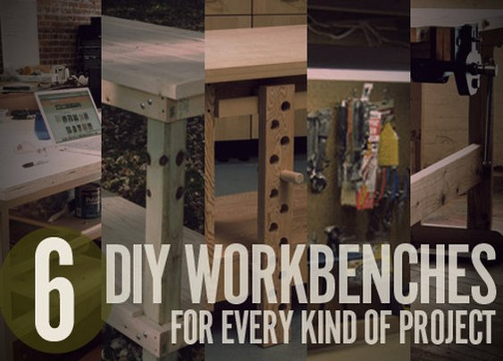 6 DIY Workbench Projects You Can Build in a Weekend | Man Made DIY | Crafts for Men | Keywords: craft, diy, woodworking, wood