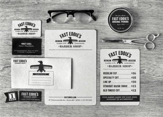 Branding | fast eddies barber shop // richie stewart (http://www.behance.net/CommonerInc)