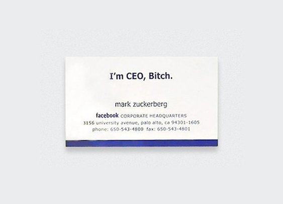 7 Iconic Business Cards Of The Rich And Famous