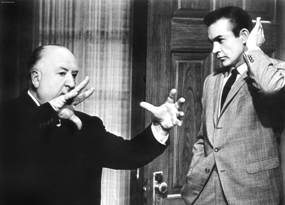 Awesome People Hanging Out Together: Alfred Hitchcock and Sean Connery
