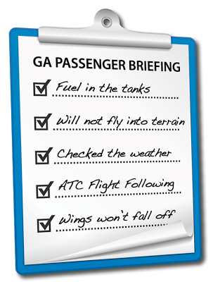 Be a better pilot: educate your passengers!