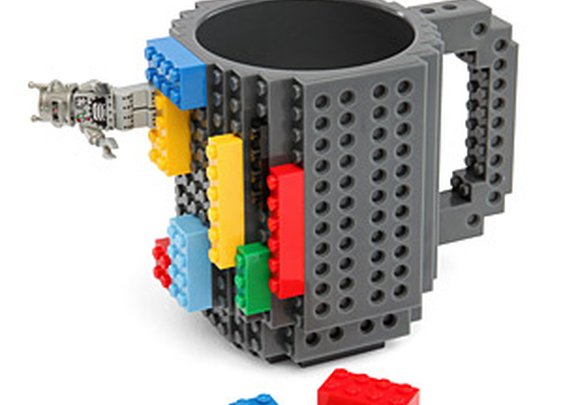ThinkGeek :: Build-On Brick Mug