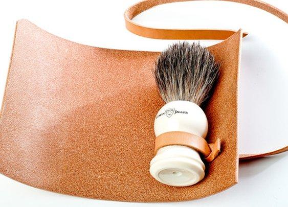 Kenton Sorenson Shaving Brush Leather Roll