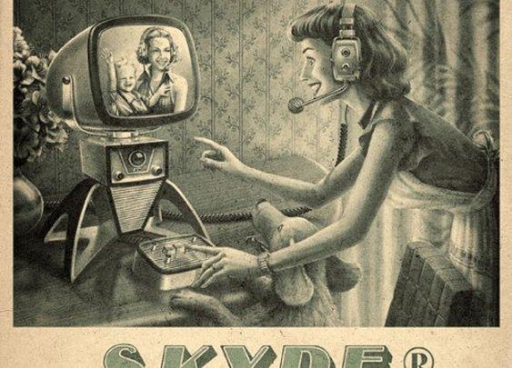 Retro Skype Ad
