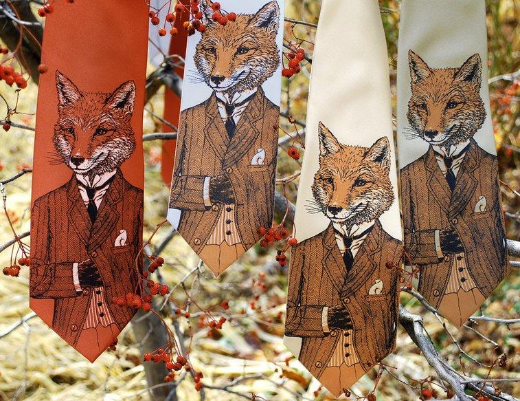 Dapper Fox Neckties   That Should Be Mine