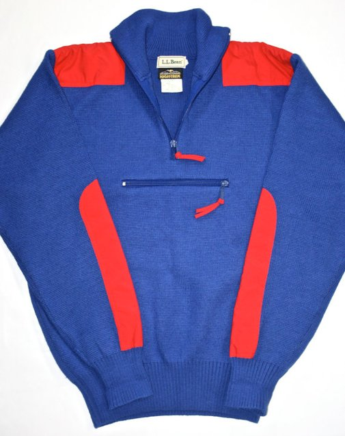 Vintage Mens LL Bean Knit Sweater with Nylon by VintageMensGoods