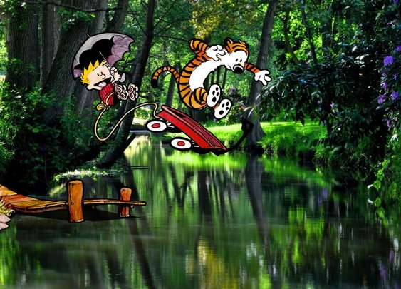 Calvin and Hobbes come to life in photographer's work