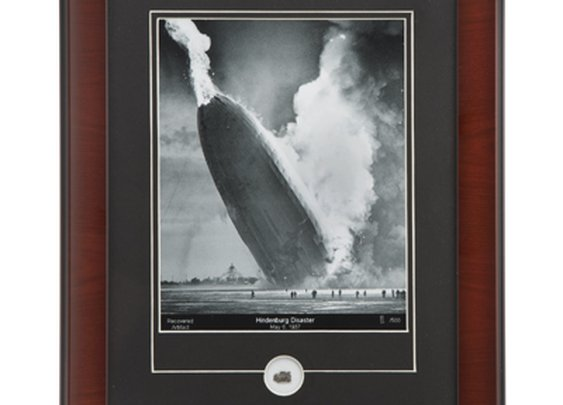 Hindenburg with Relic Framed Print - Sporty's Wright Bros