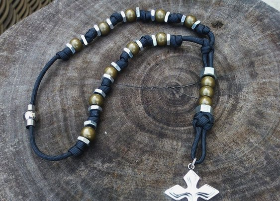 Paracord Hex Nut Rosary Necklaces | CordBands