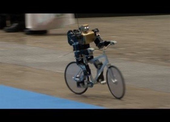 A Robot Riding a Bike
