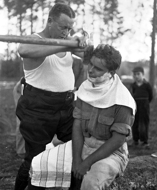 Huckberry | The Art Of Axe Shaving