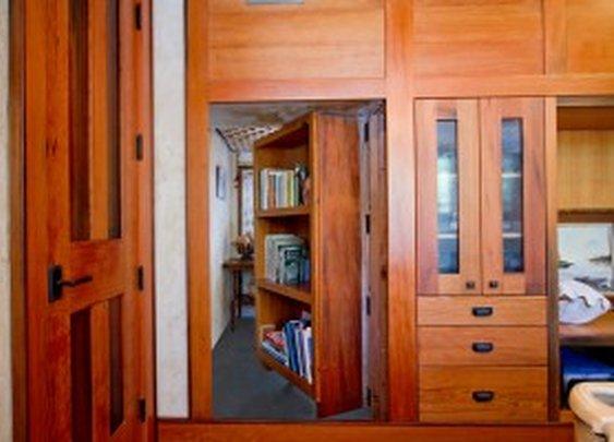 Secret Room Behind Bookshelf Door