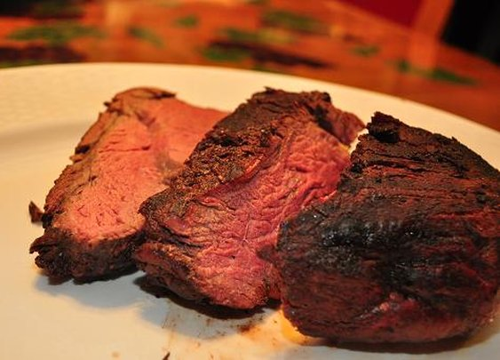 Reverse Seared Bison Tenderloin Marinated in Coffee Stout | GrillinFools