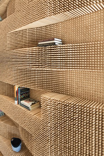 Standing Out:  3-D Dowel Walls  Dwell | Apartment Therapy