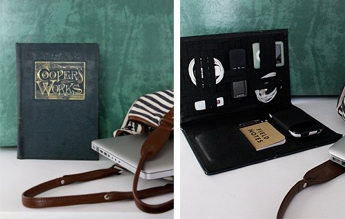 diy project: vintage book travel-tech organizer | Design*Sponge