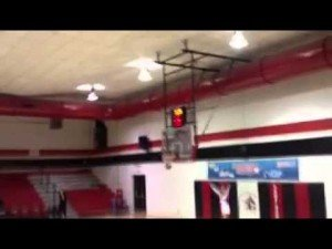 Amazing Half Court Shot by William Carey University Cheerleader
