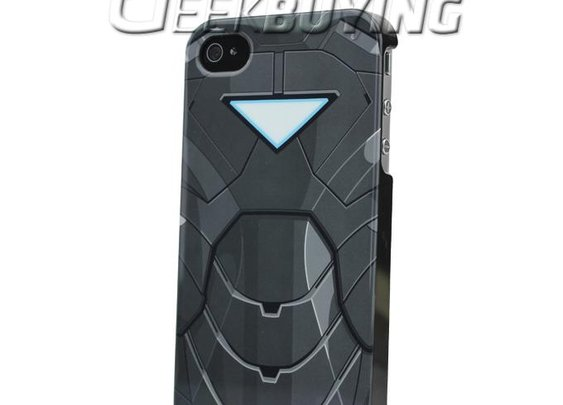 Marvel iPhone4 4S Case with Pringting Armor of IRON MAN The Avengers Black - GeekBuying.com