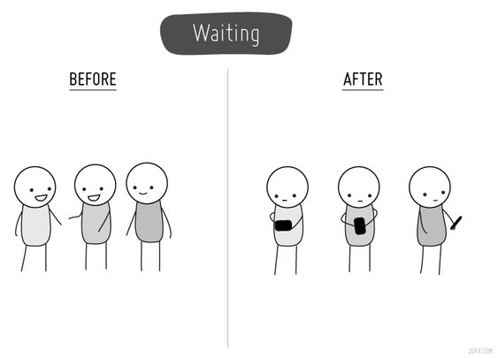 Life Before and After Cell Phones in Pictures | thetecnica