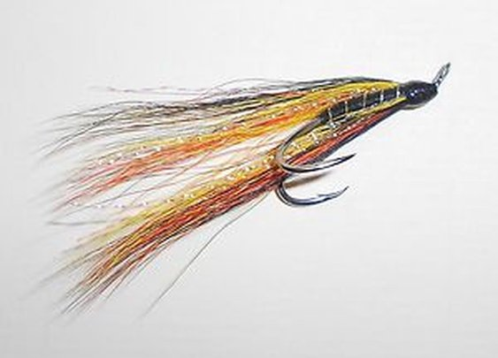 Salmon Fly Willie Gunn Tied on Partidge Salar Silver Double Hooks