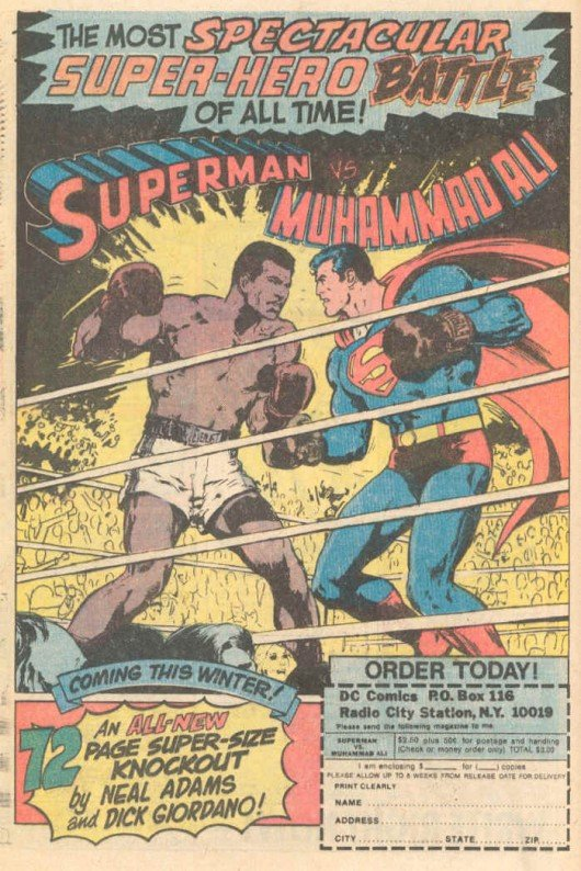 Superman vs. Muhammad Ali Retronaut | Retronaut - See the past like you wouldn't believe.