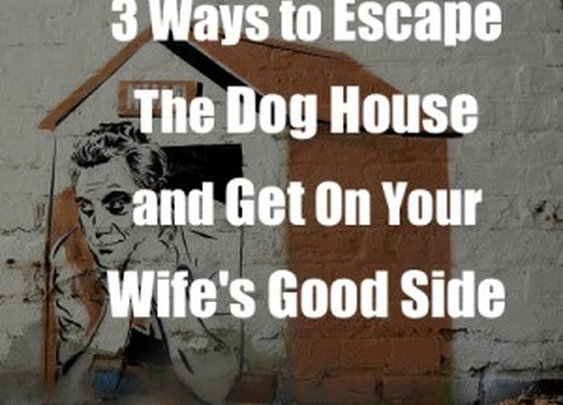 3 Techniques To Escape The Dog House & Get On Your Wife's Good Side
