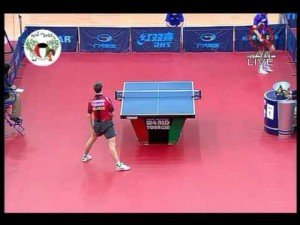 Behind the Back Trick Shot: Kuwait Open Table Tennis by Quentin Robinot (France)