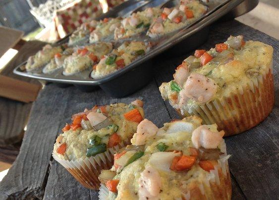 Primal Chicken Pot Pie Muffins | The Cafe Wellness