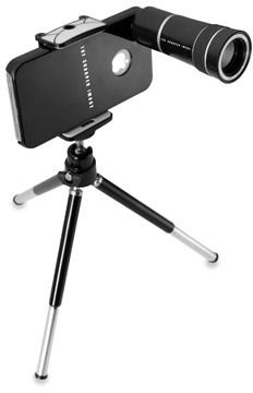 The Sharper Image Smartphone 10X Zoom Lens with Tripod