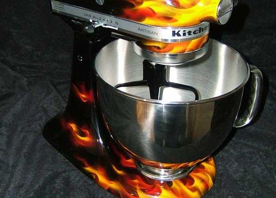 Flame job KitchenAid stand mixer