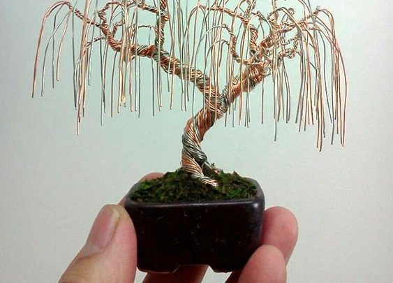 Wire Bonsai Trees
