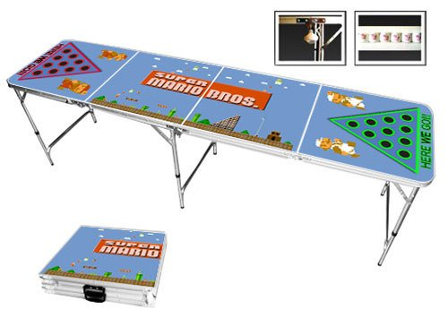 Custom Super Mario Bros NES Beer Pong Table