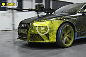 Audi RS4 Avant Paintball Duel | Cool Material