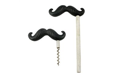 Mustache Bottle Opener and Corkscrew