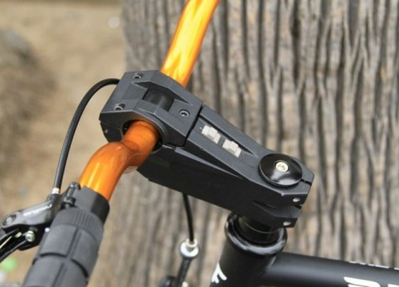 StemLite combines a handlebar stem and bike light in one device
