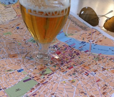 A beer, a map and the open road