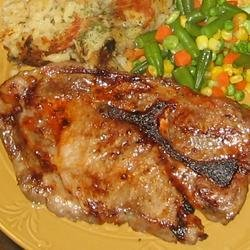 Barbecued Pork Steaks