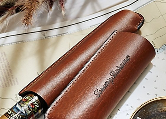 Leather Cigar Tube