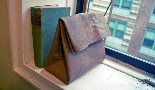 "How to: Make a Reusable Leather ""Paper"" Bag 