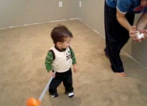 Skillful 17-Month-Old Playing Golf [2010]