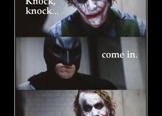 Cause when you're Batman...