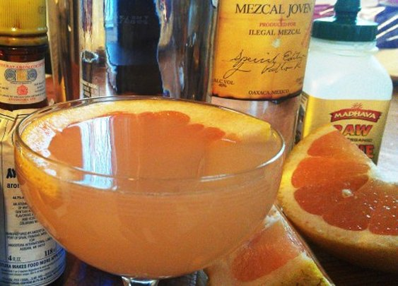 Smoky Paloma Cocktail