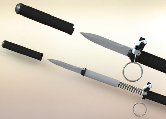 Knife with ballistic capabilities - SolidWorks, STL for 3D, Other - 3D CAD model - GrabCAD