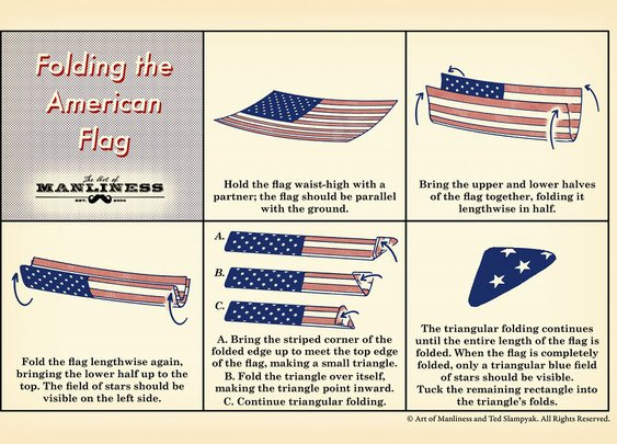 How to Fold The American Flag: An Illustrated Guide | The Art of Manliness