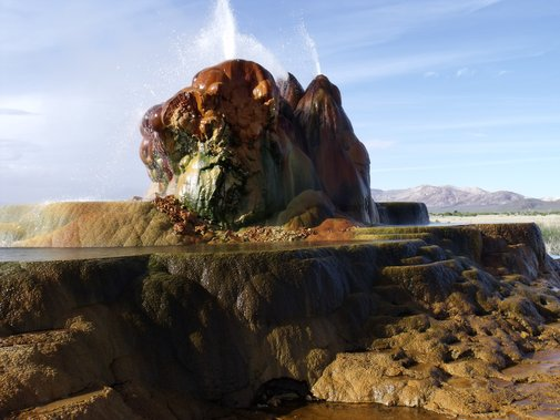 Fly Geyser, Nevada