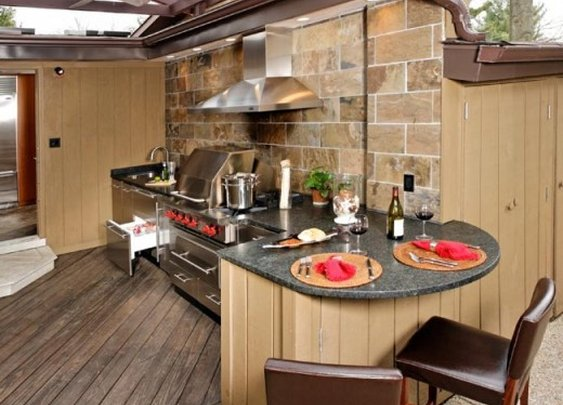 Inspiring Outdoor Kitchen Cabinet and Storage Design