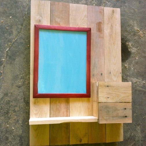 Coat, Key, and Mail Slot / Reclaimed Wood