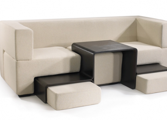 Slot Sofa makes a lot from a little space