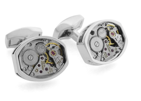 Cufflinks Made From Vintage Luxury Watches