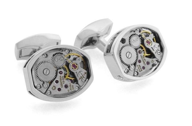 Cufflinks Made From Vintage Luxury Watches